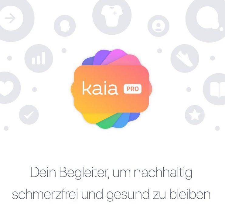 Buntes Logo von Kaia PRO. Dein Begleiter, um nachhaltig schmerzfrei und gesund zu bleiben.