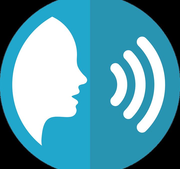Illustration visualisiert einen AVATAR durch einen sprechenden Kopf