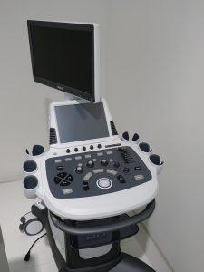 Herkömmliches großes Ultraschall gerät mit großem Monitor