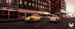 VR-Visualisierung einer historischen Straße in Krefeld hilft an Demenz Erkrankten sich zu erinnern.