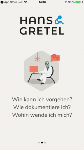Screenshot der Kinderschutz-App Has & Gretel