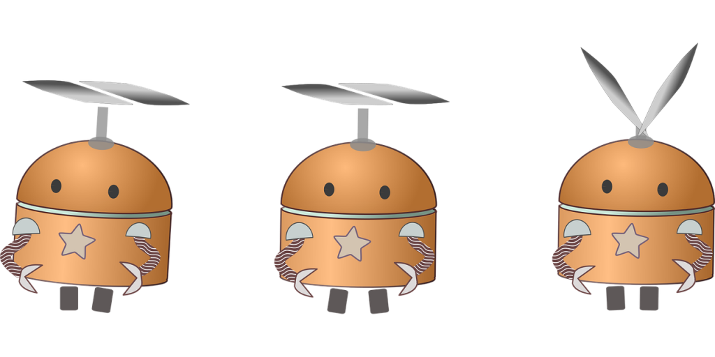 Illustration eines Roboters mit Propeller-HealthcareHeidi