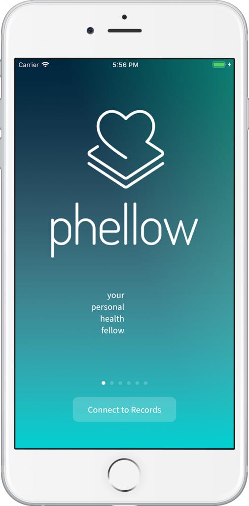 Screenshot der phellow App Starseite