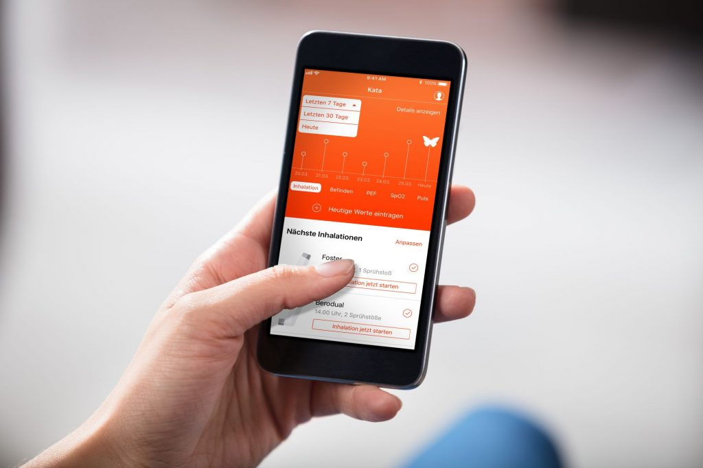 Screenshot mit Gesundheits-App KATA