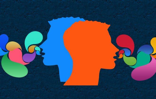 Illustration Sprachanalyse bei Schizophrenie