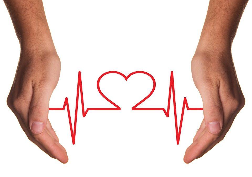 Illustration Herz und EKG-Kurve Vorhofflimmern